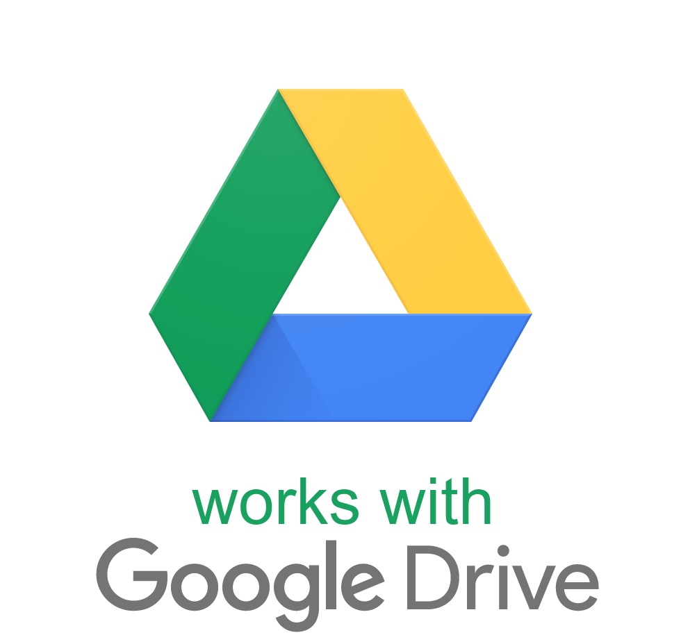 Works with Google Drive